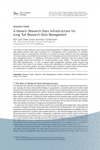 Download publication: A Generic Research Data Infrastructure for Long Tail Research Data Management